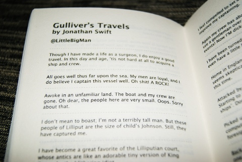 Twitterature - Gullervers travels
